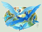 Birds of Blue Feathers by Hakunaro