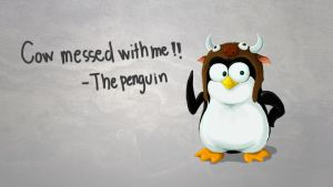 GNU - Linux Penguin Quote by TheFieryLantern