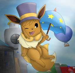 An eevee in time by Charly-sparks