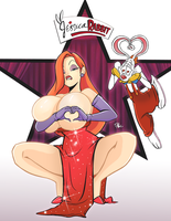 Jessica Rabbit Boob Heart by TerryAlec