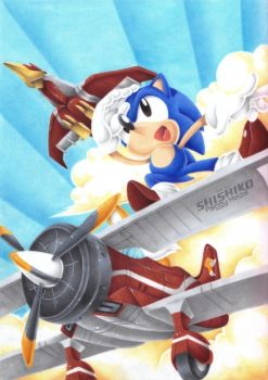 :Gift: Sky Chase Zone by Pichu-Chan