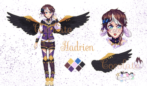 OPEN- Black Wings Adopt 4 by Cocolate-Adopt