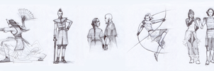 ATLA/LOK sketches by characterundefined