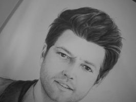 The face part of Misha Collins by zosimospk