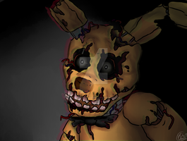 .:FNAF's 3:. Golden Bonnie by Spring-Green-Cherry