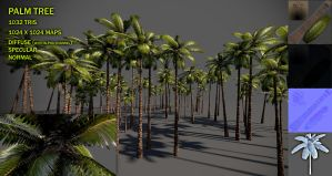 Palm tree v2 by Yughues