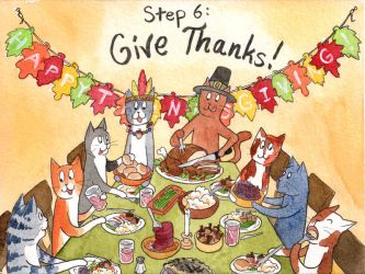 Kitty and Coco's Guide to Thanksgiving: Step Six by katnips