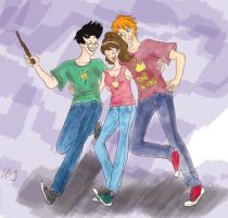 Golden Trio by LittleZing