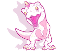 Twinkle the t-rex unicorn by AltairSky