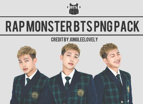 RAPMONSTER BTS PNG PACK by JUNGLEELOVELY by Jungleelovely