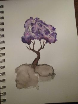 Tree Watercolor Sketch by Lynxcall