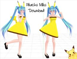 Mmd  Pikachu Miku Download (Updated) by shayley02