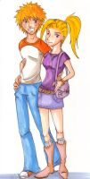 Just Simple NaruIno by valdrianth