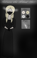 Adriane the Blind Girl - Creepypasta OC Ref Sheet by LonesomeSprite