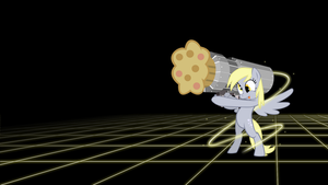 Muffin Launcher - Derpy Hooves Wallpaper by smokeybacon