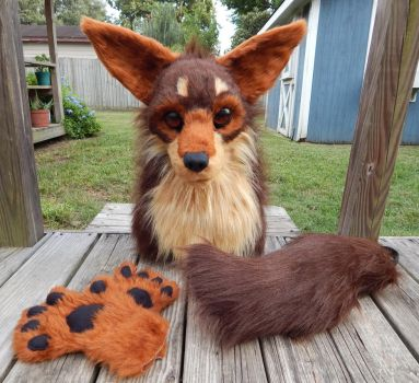 Pain Fursuit Partial - COMPLETED by Black-Heart-Always