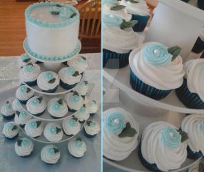 Mini Wedding-Themed Cake-Cupcakes by InkArtWriter
