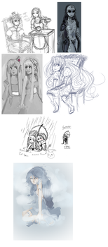 SKETCH DUMP OF by illictic