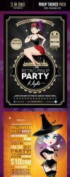 3 in One Pinup Themed Flyers Pack by odindesign
