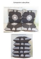 Companion Cube Pillow by SongThread