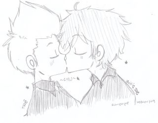 Tre and Billie Joe kissu by rompopita