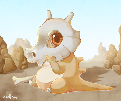Commission - Cute Cubone by xlolfishx