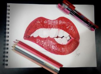 Seductive Lips by SoumyashriMishra