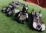 The Bat and Batmobile by Alucard4