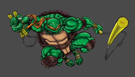 Mike Bowden's Michelangelo Colored by Apoklepz