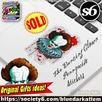 Pennywise IT Stickers Stephen King Character by Bluedarkat