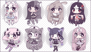 Chibi Mix Adoptables 30 :: CLOSED :: by Hunibi