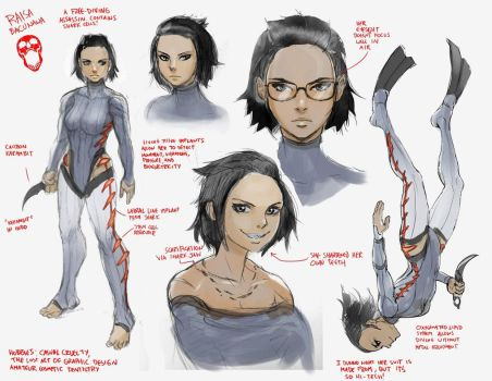 Raisa Bacunawa Feb 2018 sketches by rubendevela