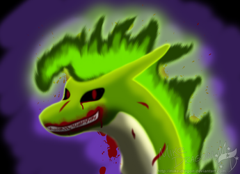 Scary Dragon by Mike-Dragon