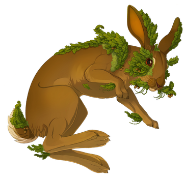 Hare full of Leaves by TheVerdantHare