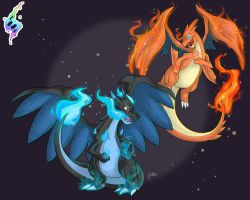 Mega Charizards by JaidenAnimations