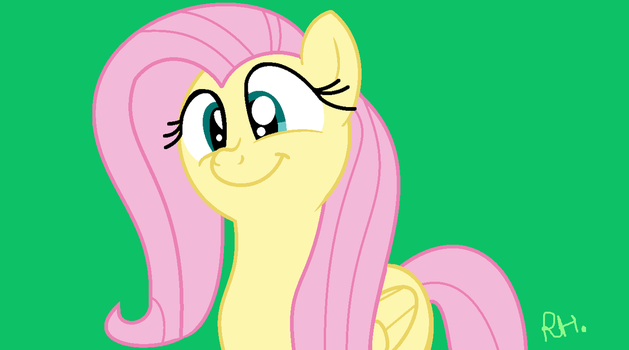 Fluttershy's cute smile~ by RainbowHeartPony