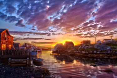 Peggy's Cove by HDR by LeeDoucette