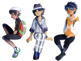 [pokemon] trainers by SomeoneLivedHereOnce