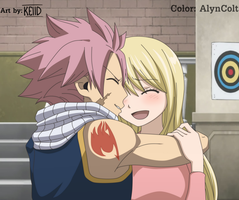 Natsu and Lucy. (Keiid) by AlynColt