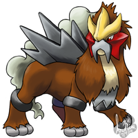 Entei by InuMimi