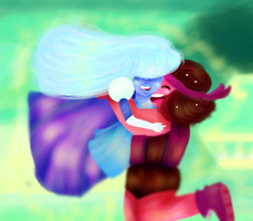 Ruby and Sapphire by Linwaud