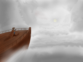 A Cloudy Sea by Merengil