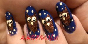 Owl Halloween Nails by SoCUTEicleNails