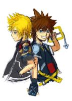 Ventus and Sora by lorelei-melodei