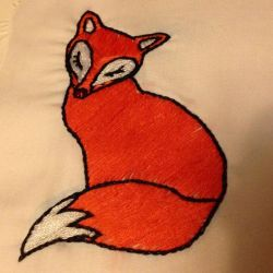 Red fox embroidery by KitWolfren