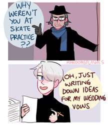 YOI: WHY WEREN'T YOU AT SKATE PRACTICE by Randomsplashes