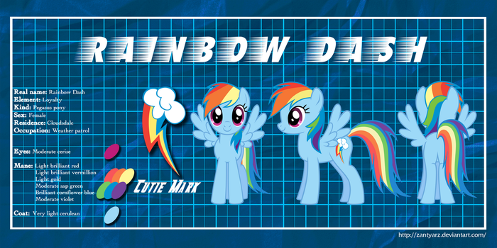 MLP Profiles: Rainbow Dash by ZantyARZ