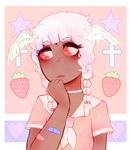 strawberry angel by seadrown