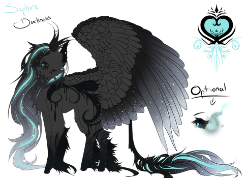 Saphire Darkness ( Contest entry ) by Lyunnala