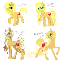 Lace Ribbon throughout the years by MagicaRin